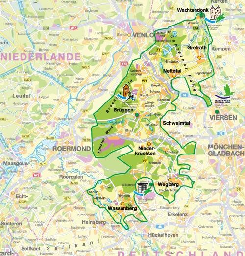 Karte Niederrhein.Wandern Im Birgeler Urwald