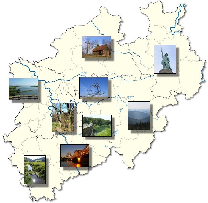 Nordrhein Westfalen Karte.Wandern In Nordrhein Westfalen